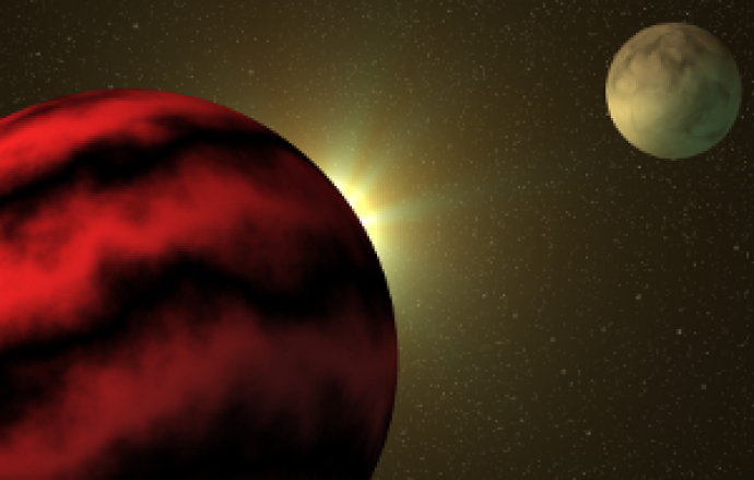 Artists Rendition of Exoplanet