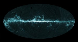 Planck all-sky image shows the distribution of carbon monoxide (CO)