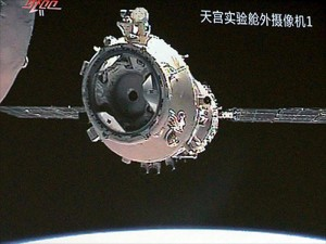 Chinese Shenzhou 8 Docking with Tiangong 1 space lab