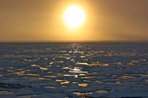 nasa-icescape-sea-ice-sunset