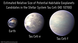 Tau Ceti e and f