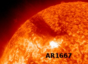 CME from Sunspot AR 1667