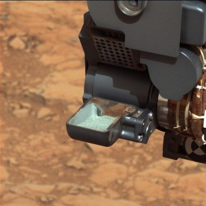 mars rover scoop