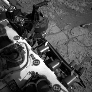 This image was taken by Navcam: Left B (NAV_LEFT_B) onboard NASA's Mars rover Curiosity on Sol 222 (2013-03-22 08:02:06 UTC).  Image Credit: NASA/JPL-Caltech