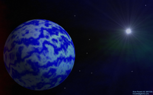 Blue Planet HD 189733b Desktop Background.