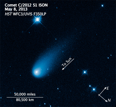 Comet ISON May 2013 with Scale.