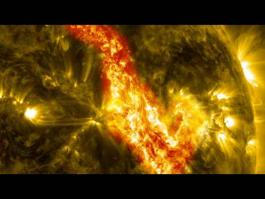 Solar Filament Eruption Creates 'Canyon of Fire'.