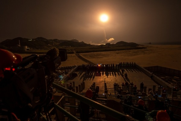 A Japanese H-IIA rocket with the NASA-Japan Aerospace Exploration Agency (JAXA) Global Precipitation Measurement (GPM) Core Observatory onboard, is seen launching from the Tanegashima Space Center in Tanegashima, Japan. Image Credit: NASA/Bill Ingalls