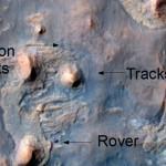 Rover on Mars from Orbit