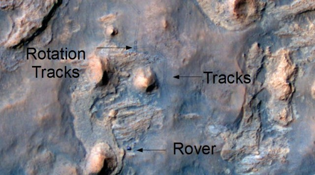 Rover on Mars from Orbit