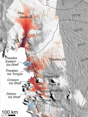 "Glaciers in West Antarctica's Amundsen Sea Embayment have ""passed the point of no return"" according to new research based on three different lines of evidence. Image Credit: NASA/Eric Rignot"