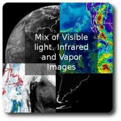 Mix of images, Full disk, water vapor, Infrared