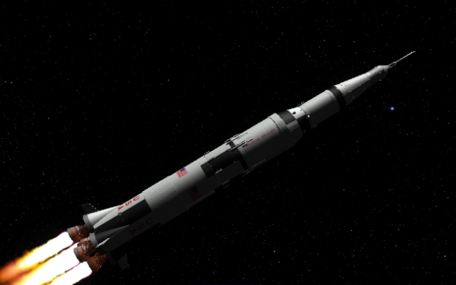 Saturn V built in KSP