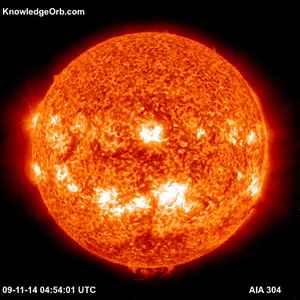 SDO AIA 304 image of sun on 9/11/14