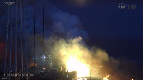 Rocket Explosion on Wallops launch pad 10/28/14