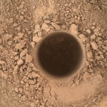 First Sampling Hole in Mount Sharp