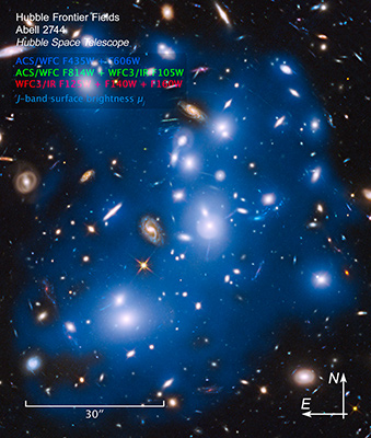massive galaxy cluster Abell 2744