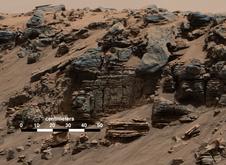 Mars Lake Bed