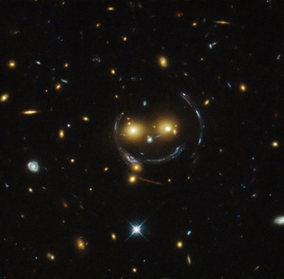Smiley Faced Galaxy Cluster