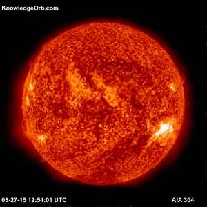 AIA 304 Image of the Sun 8/27/15